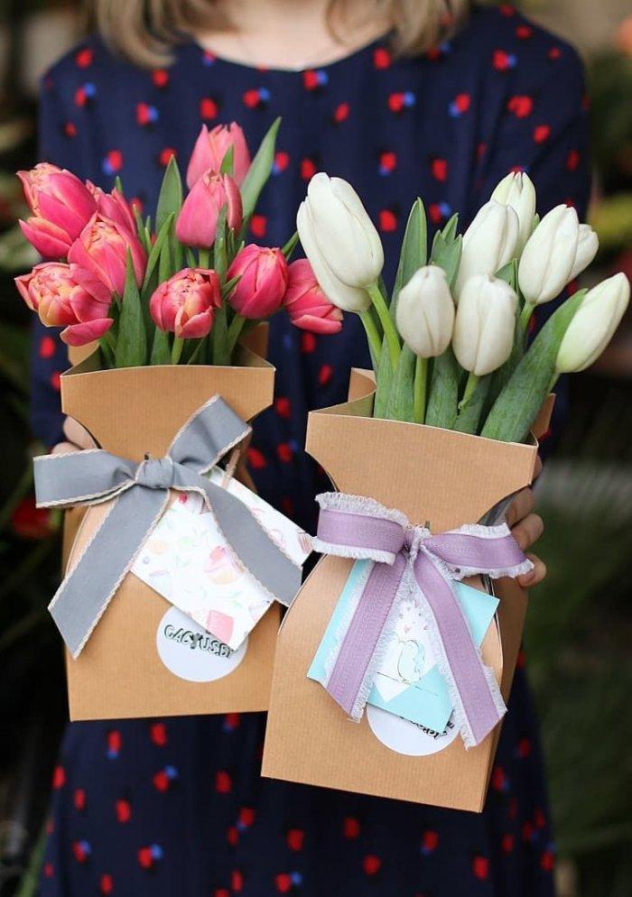 Тюльпаны в аквабоксе #2